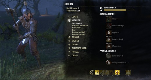ESO Character skill lines