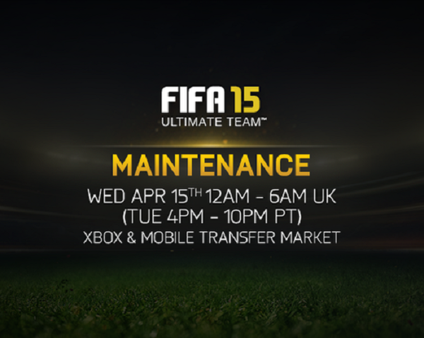 FIFA 15: Transfer Market Offline for Maintenance Today